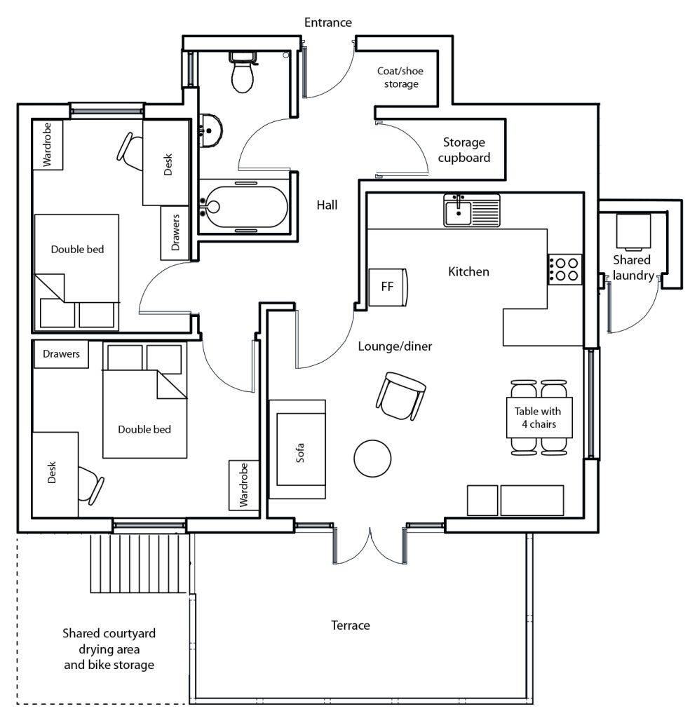 Sheldon floor plan