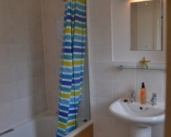 Tiled fully-fitted bathroom